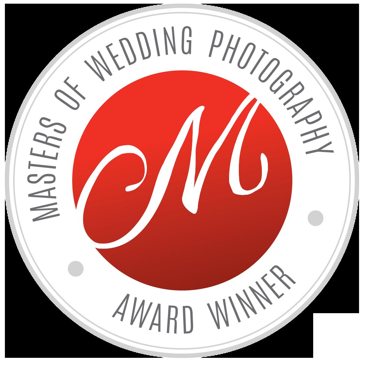 Masters of wedding photography award badge