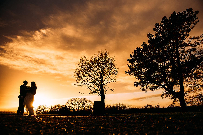 Last light of 2017, silhouette sunset