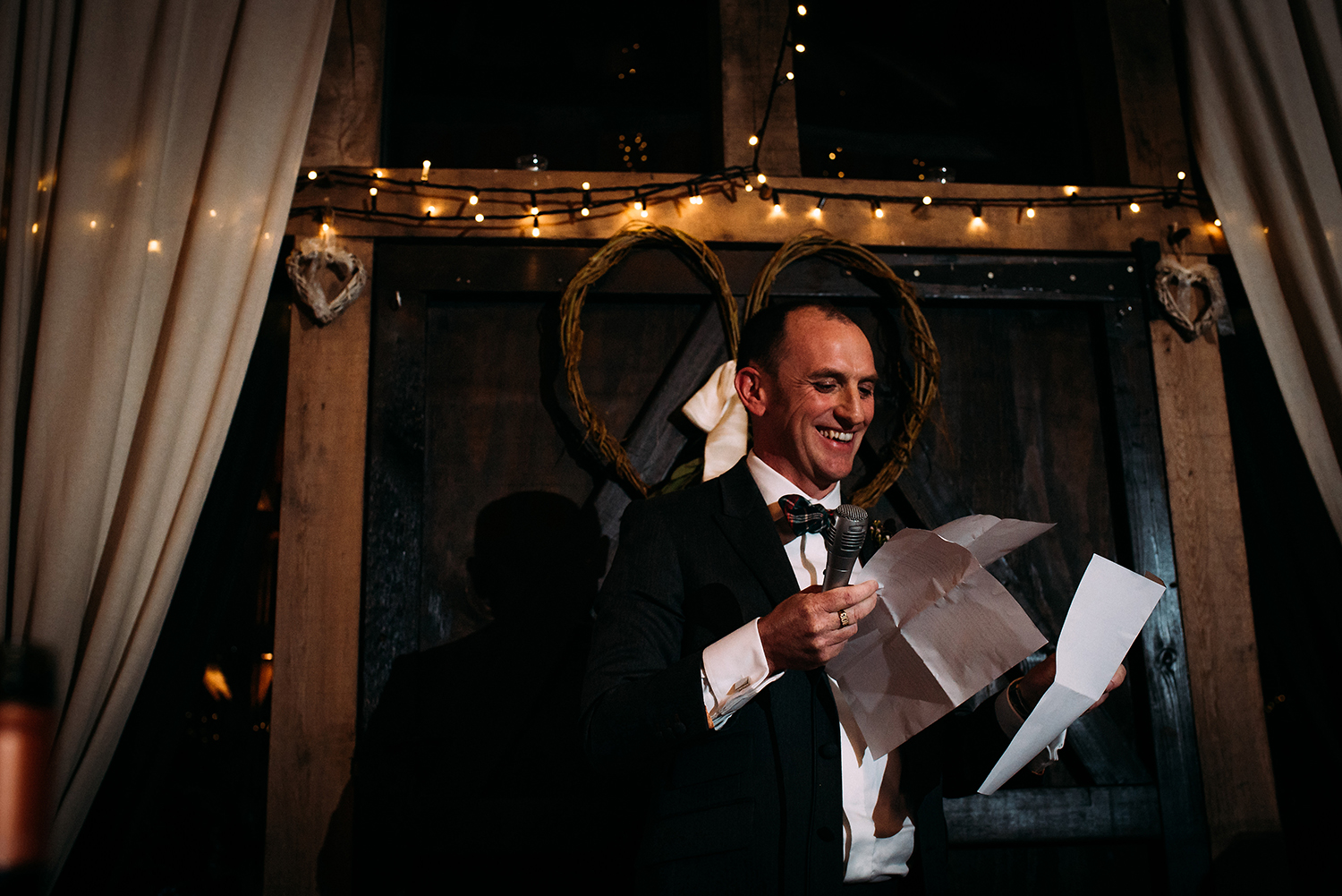groom confused with speech papers