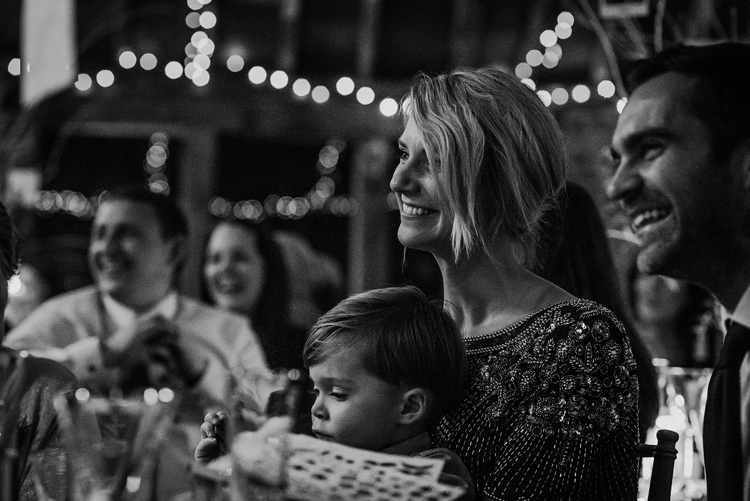 BW photo, guests reaction