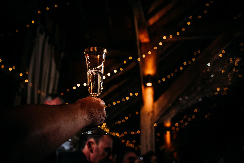 champagne glass toast
