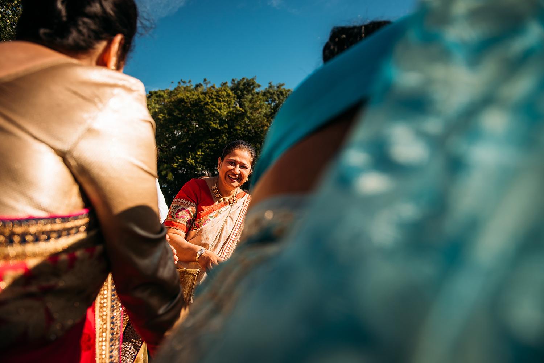 3 Indian ladies dancing