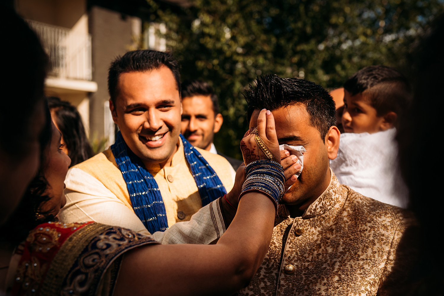 Fun shot during the Indian groom's entrance