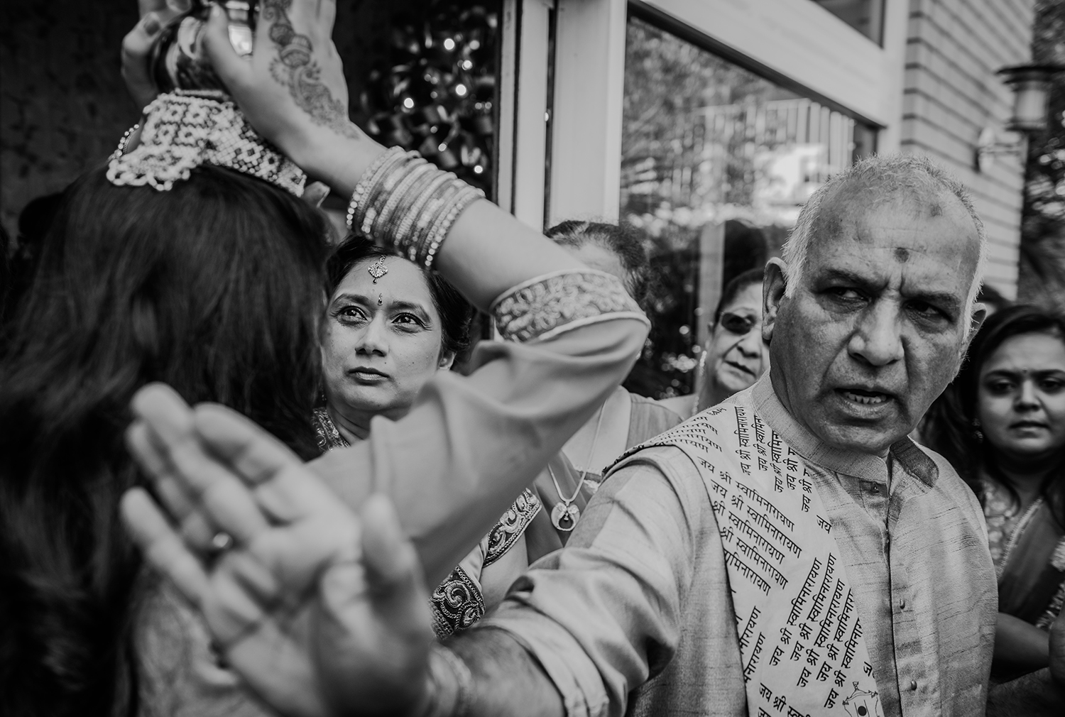 Bw photo during Indian traditions