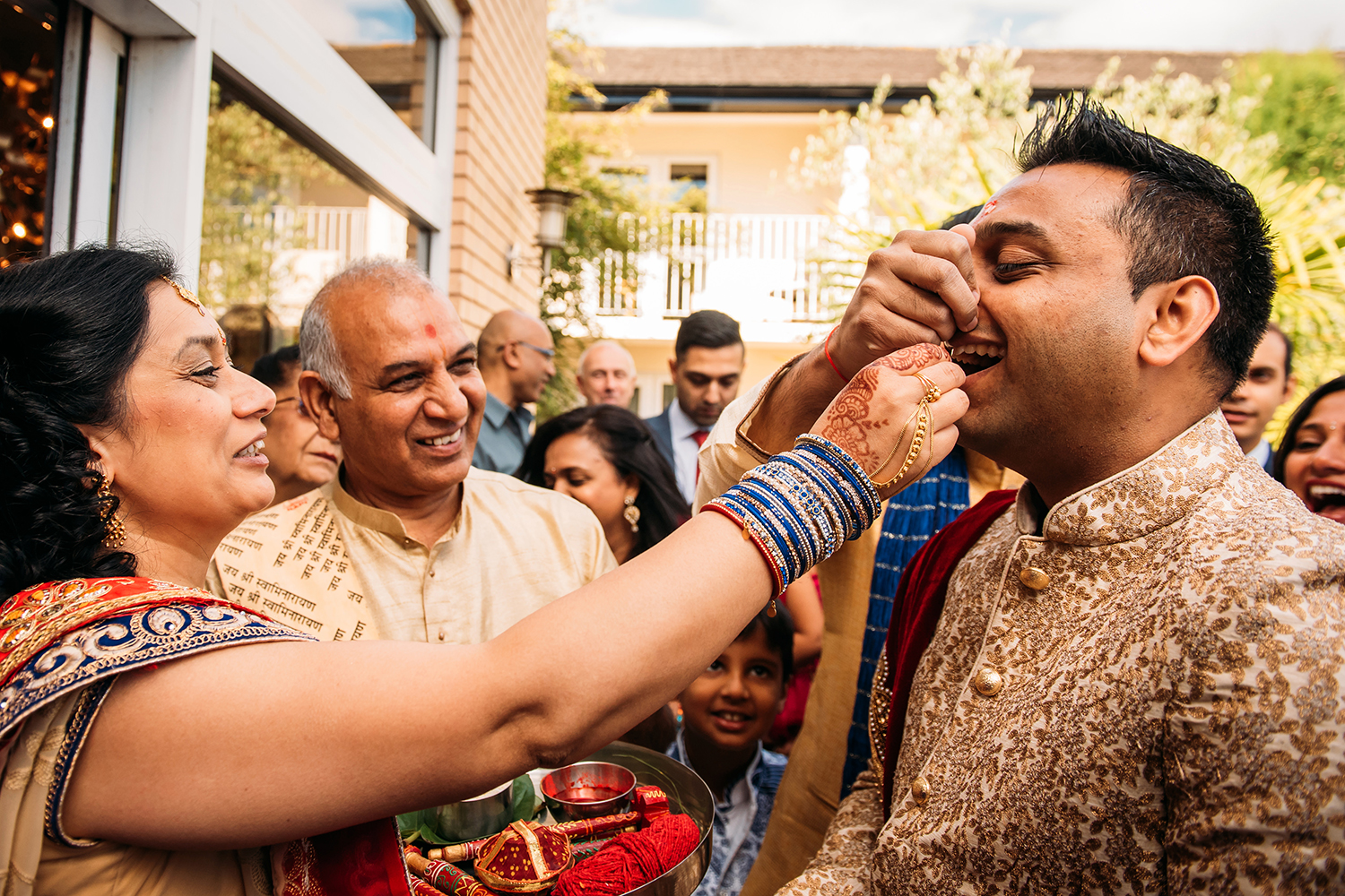 Games during the groom's entrance
