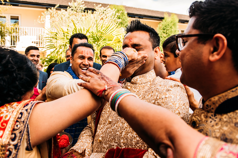 Indian groom celebrations