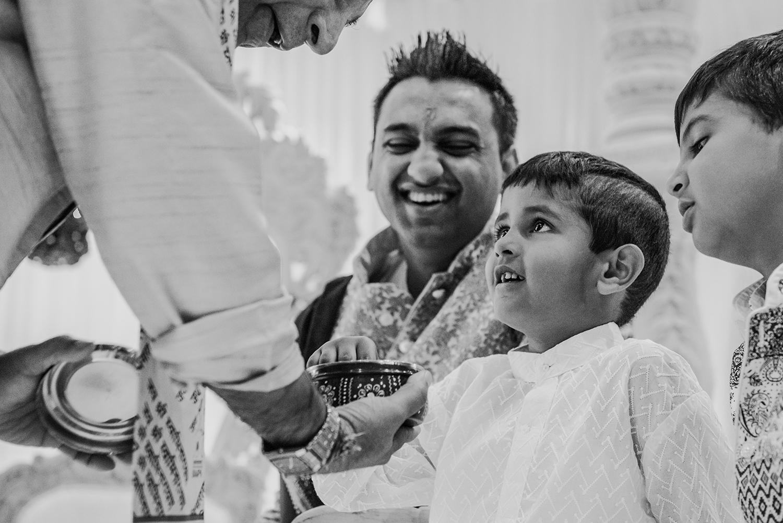 bw photo of Indian boy before wedding