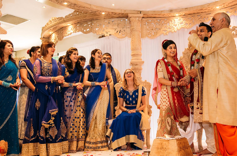 bride and bride's family