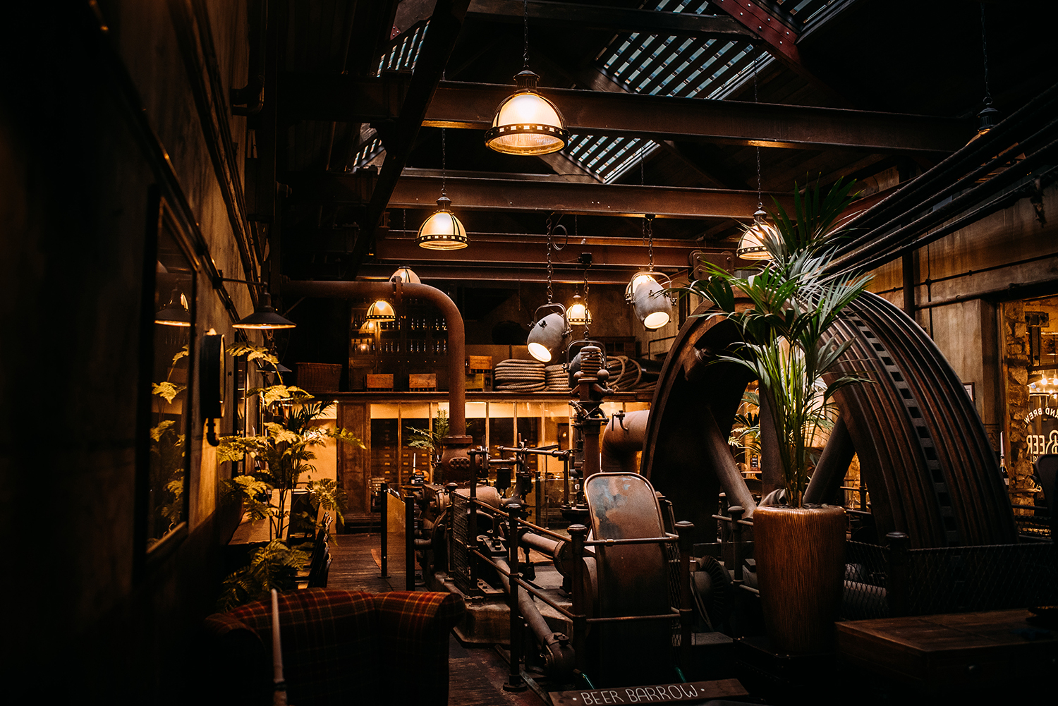 The engine room at Holmes mill