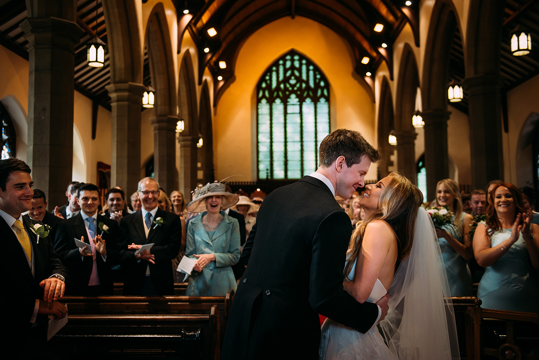 first kiss in church