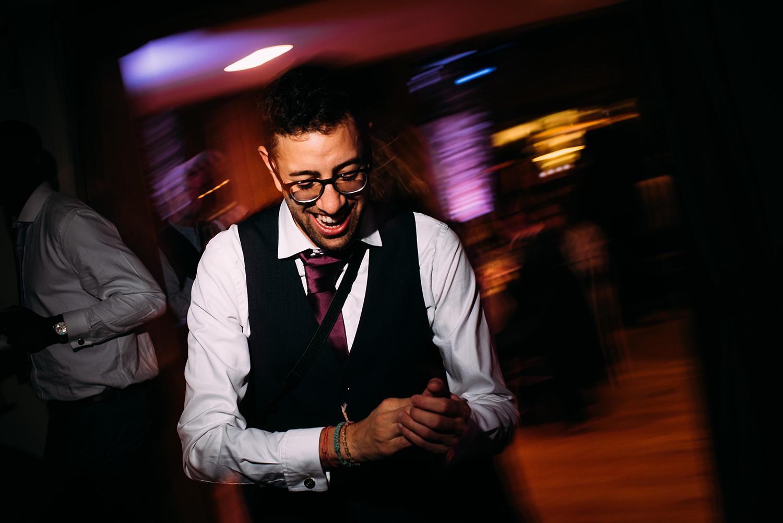 groomsman having a laugh