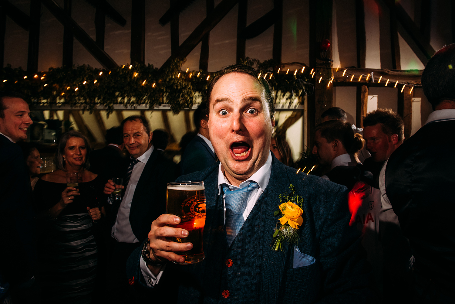 best man with a pint