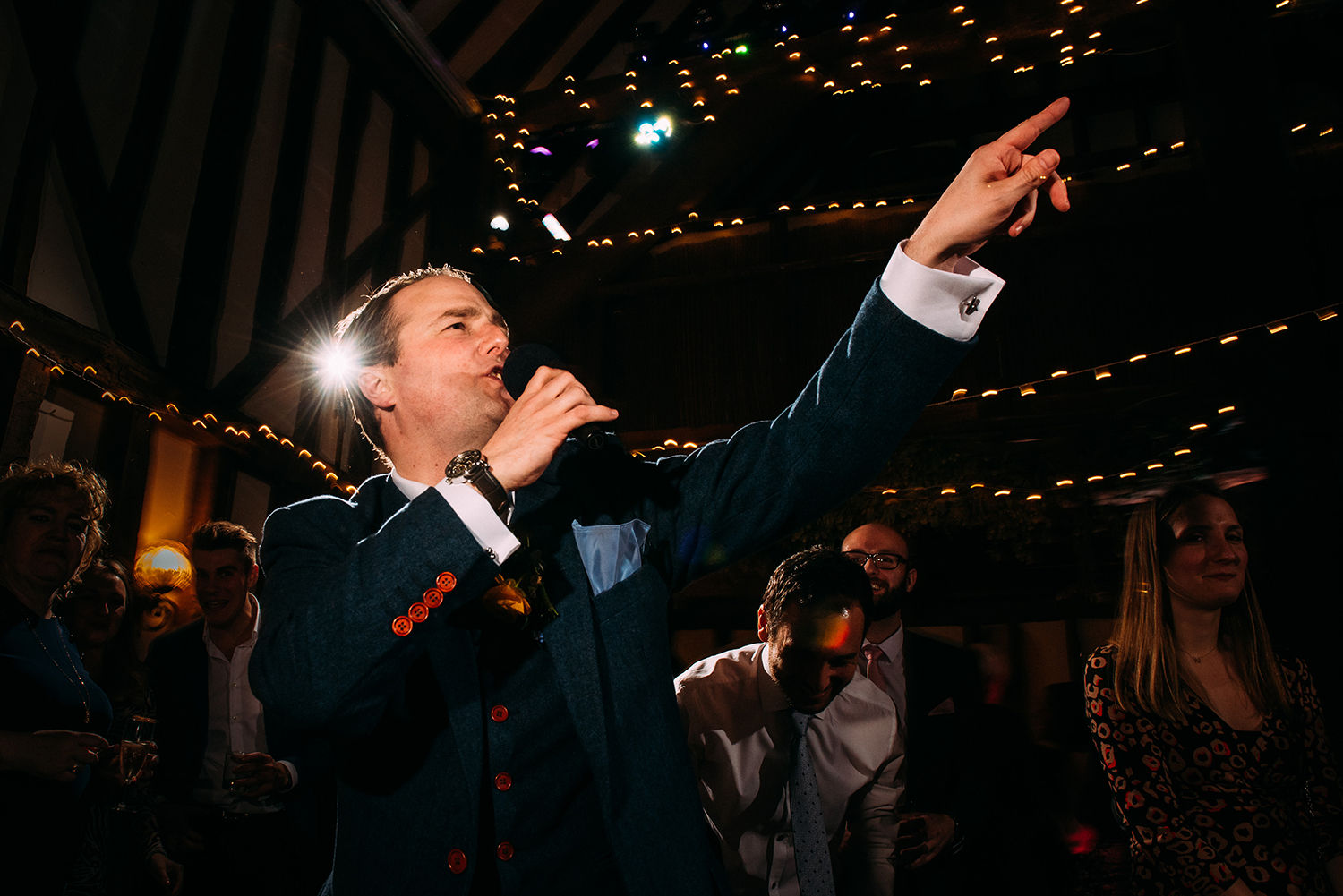 best man rapping for the guests