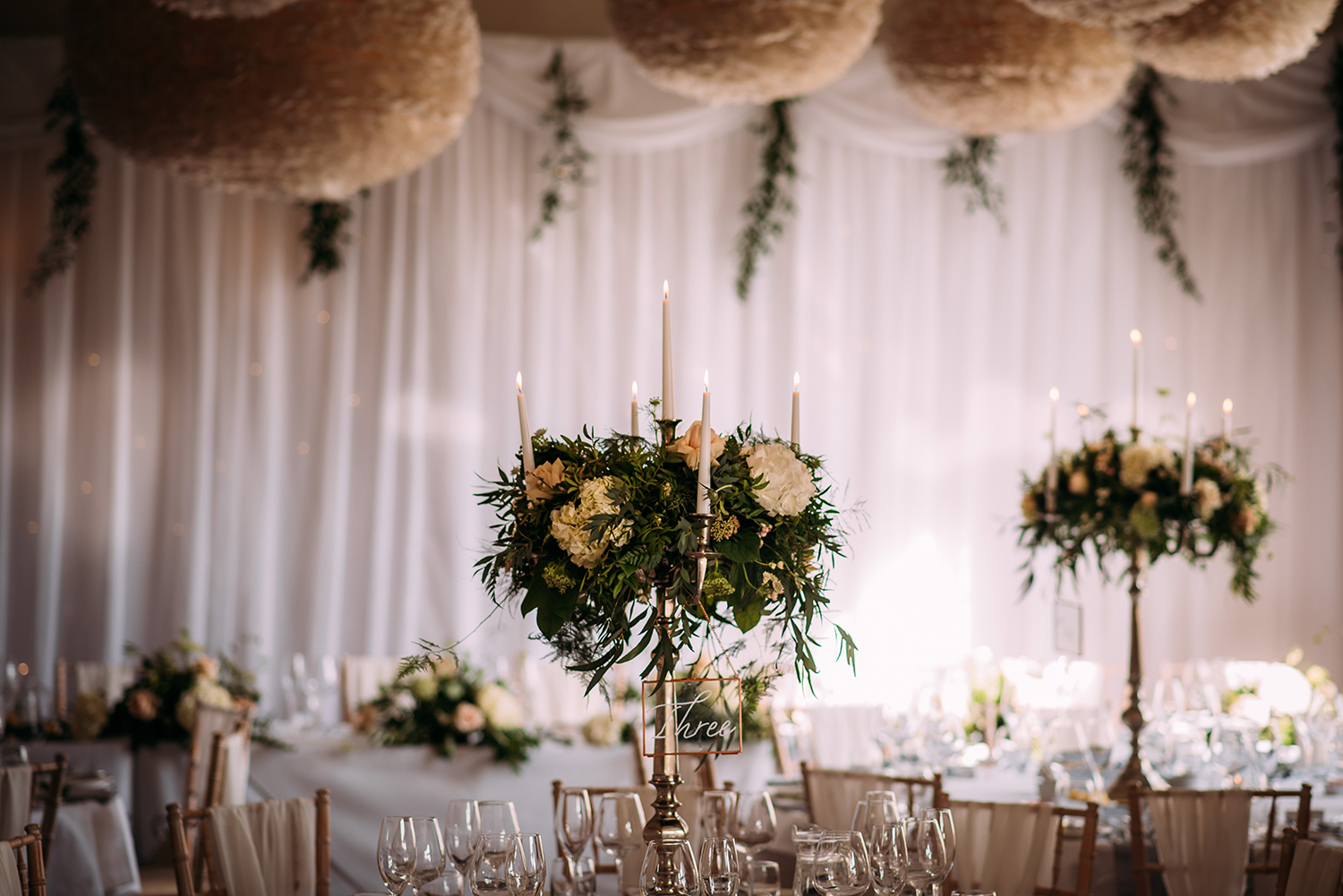 flowers in the reception room