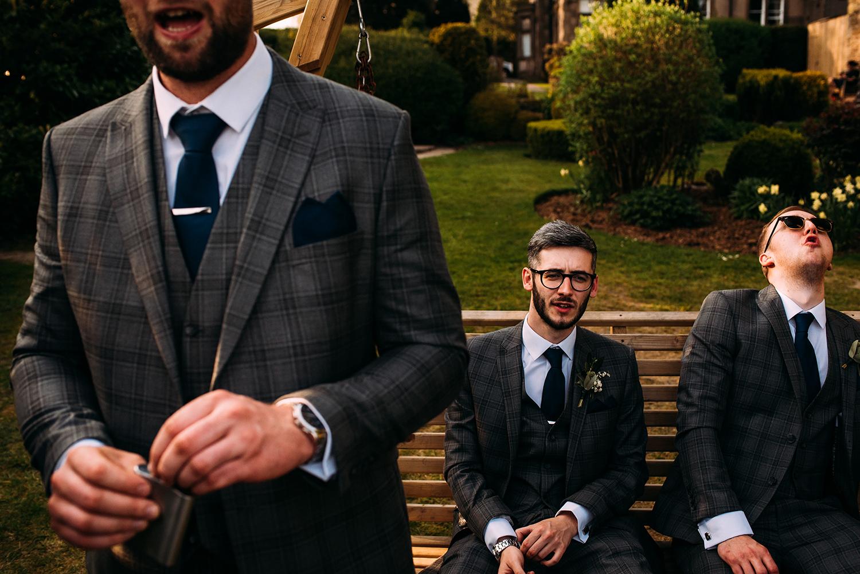 drunk groomsmen