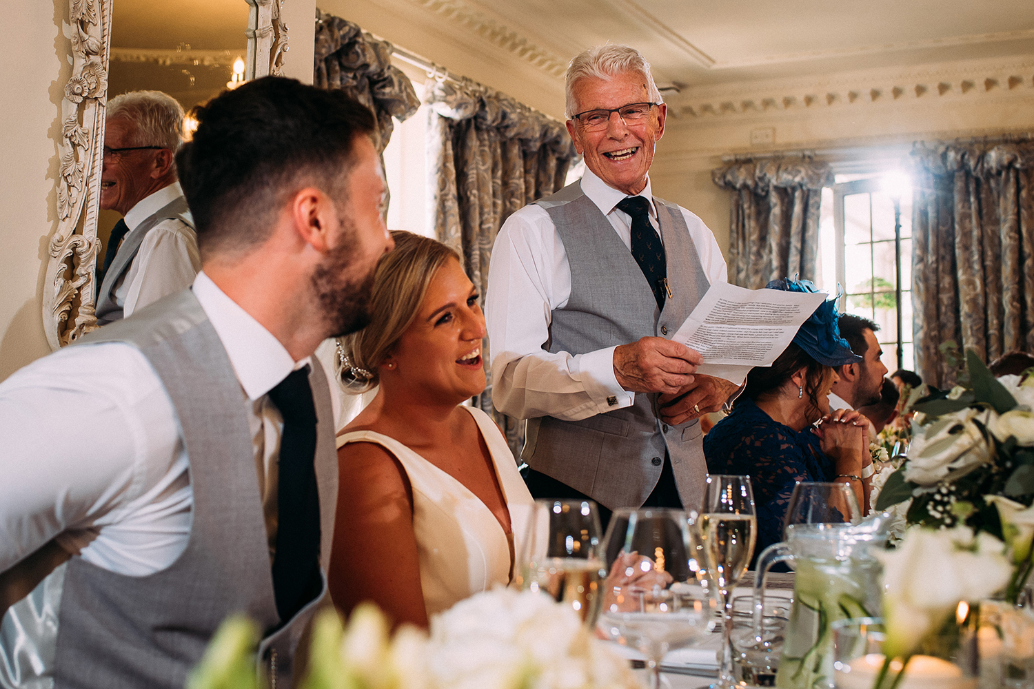 father of the bride speech at Eaves Hall