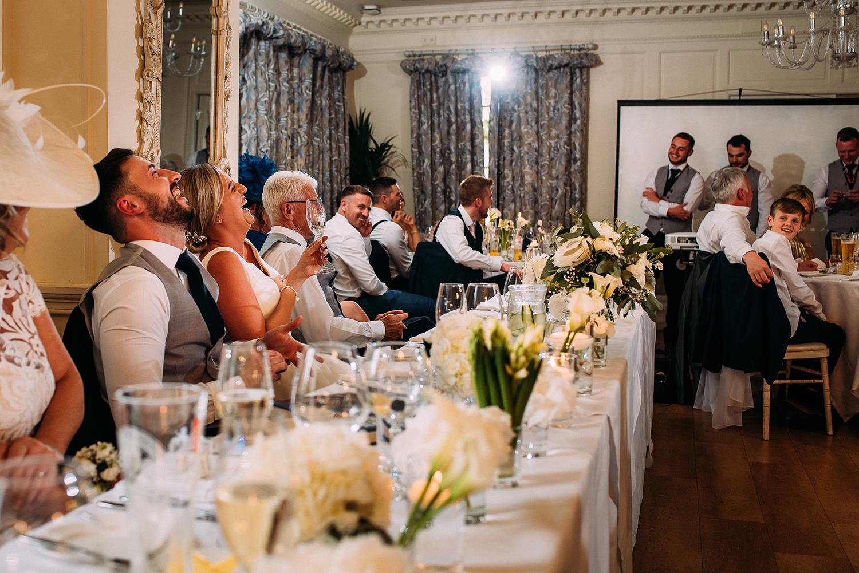 best men speech at Eaves Hall