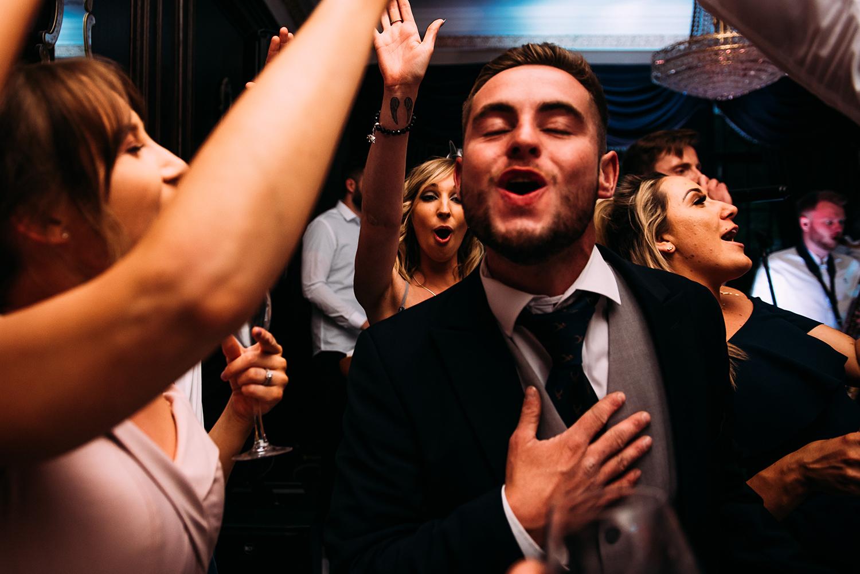 guests dancing at Eaves hall