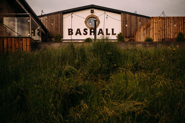 scene setting shot of Bashall barn