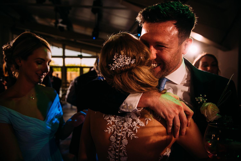 hugging on the dance floor