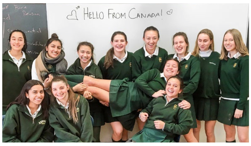 Havergal College girls in the letter-writing partnership Image: Clare Morneau