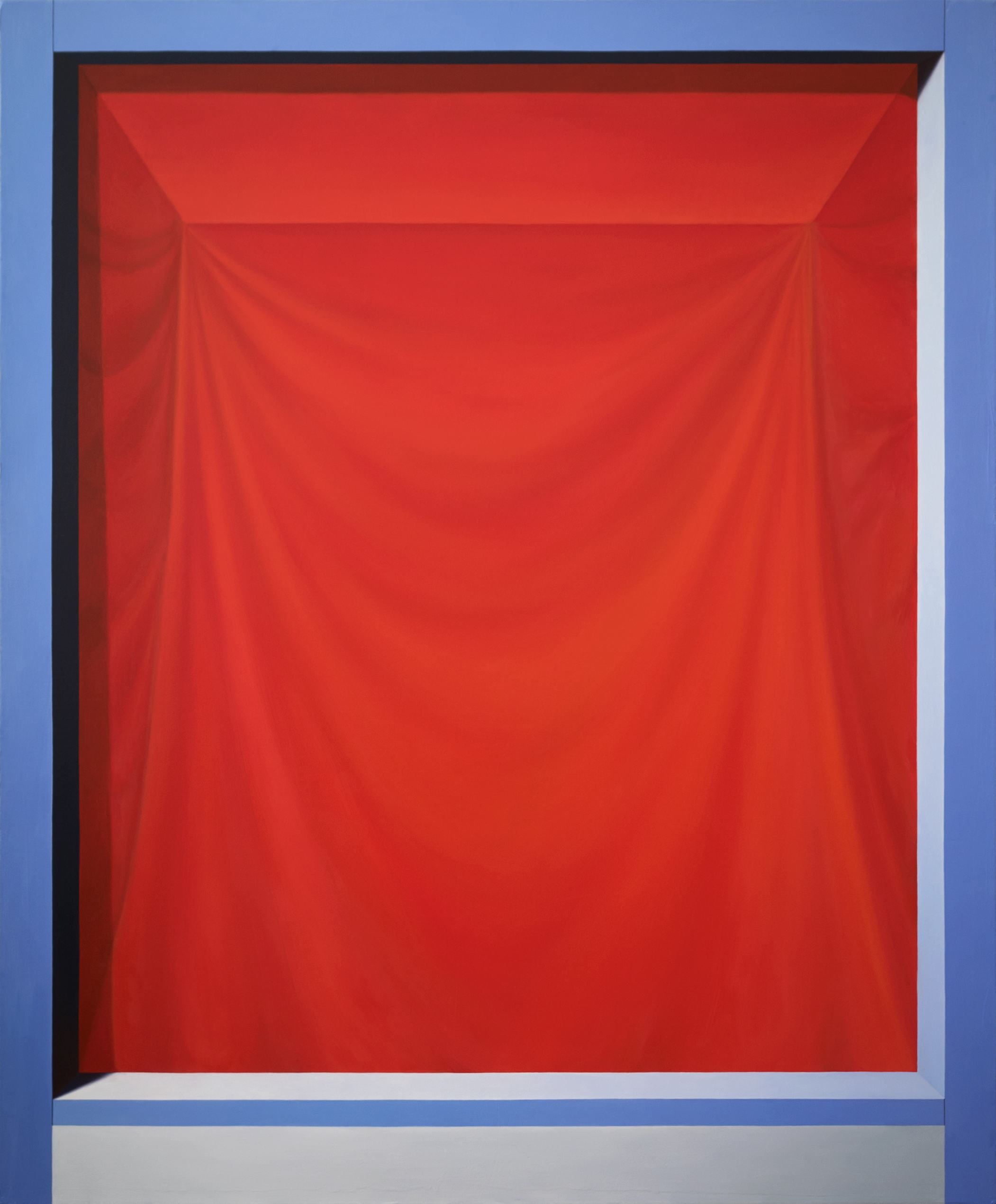 Threshold (Red Veil)   2017  Oil on canvas  46 x 38 in