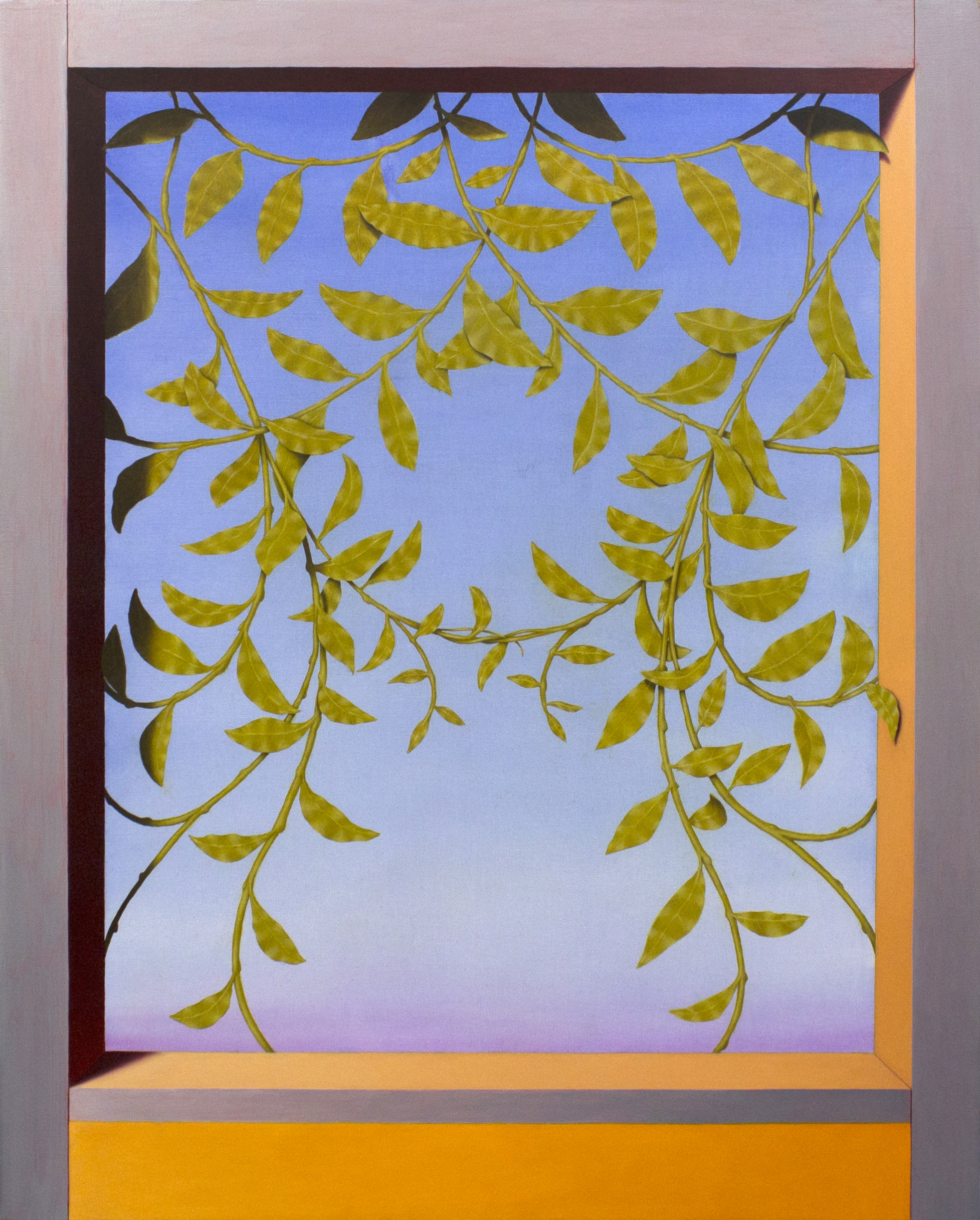 Threshold (Wisteria)  2018  Oil on wood panel  20 x 16 in