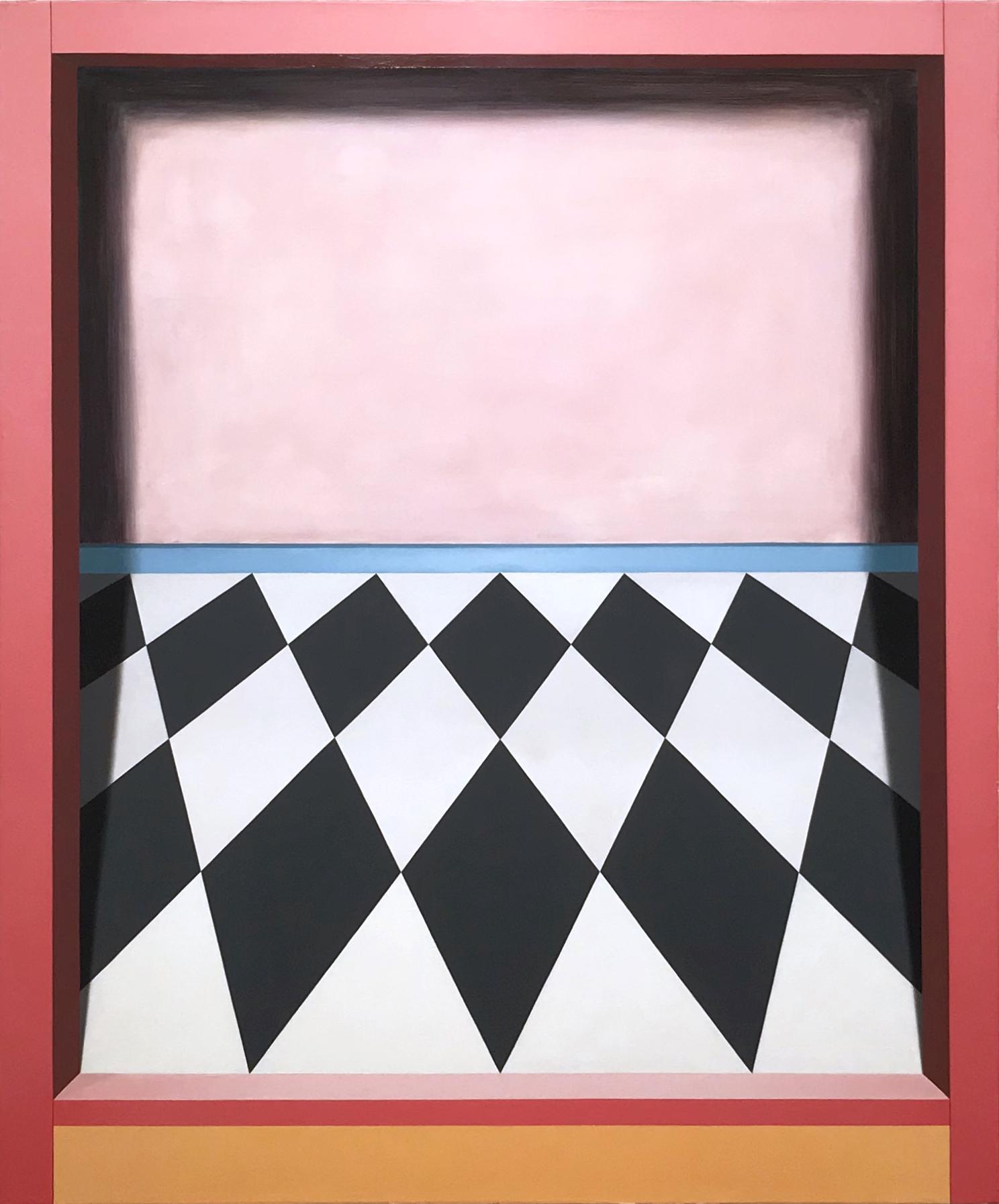 Threshold (Tilt)   2018  Oil on canvas  46 x 38 in