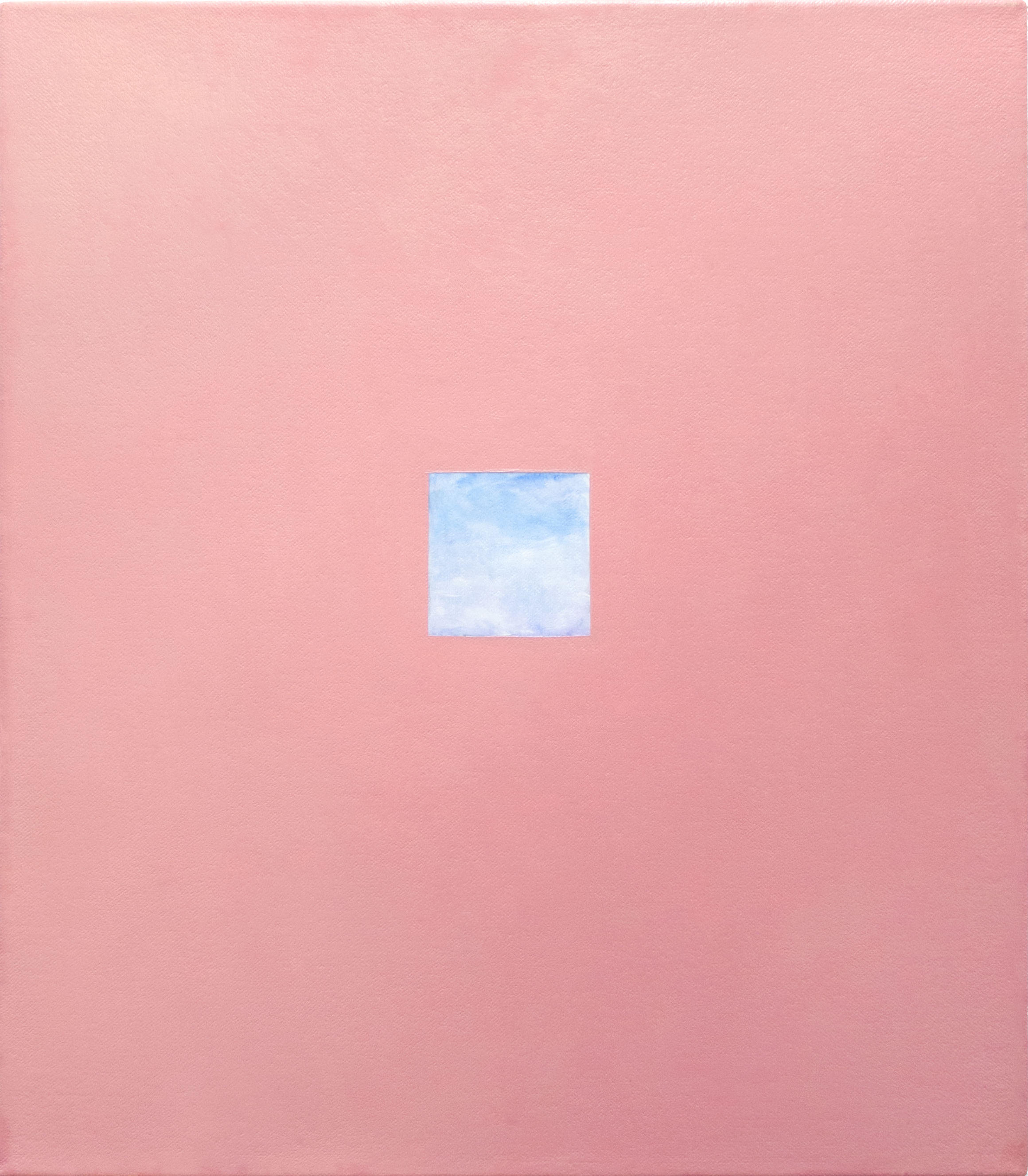 Pink Window  2018  Oil on canvas  15 x 13 in