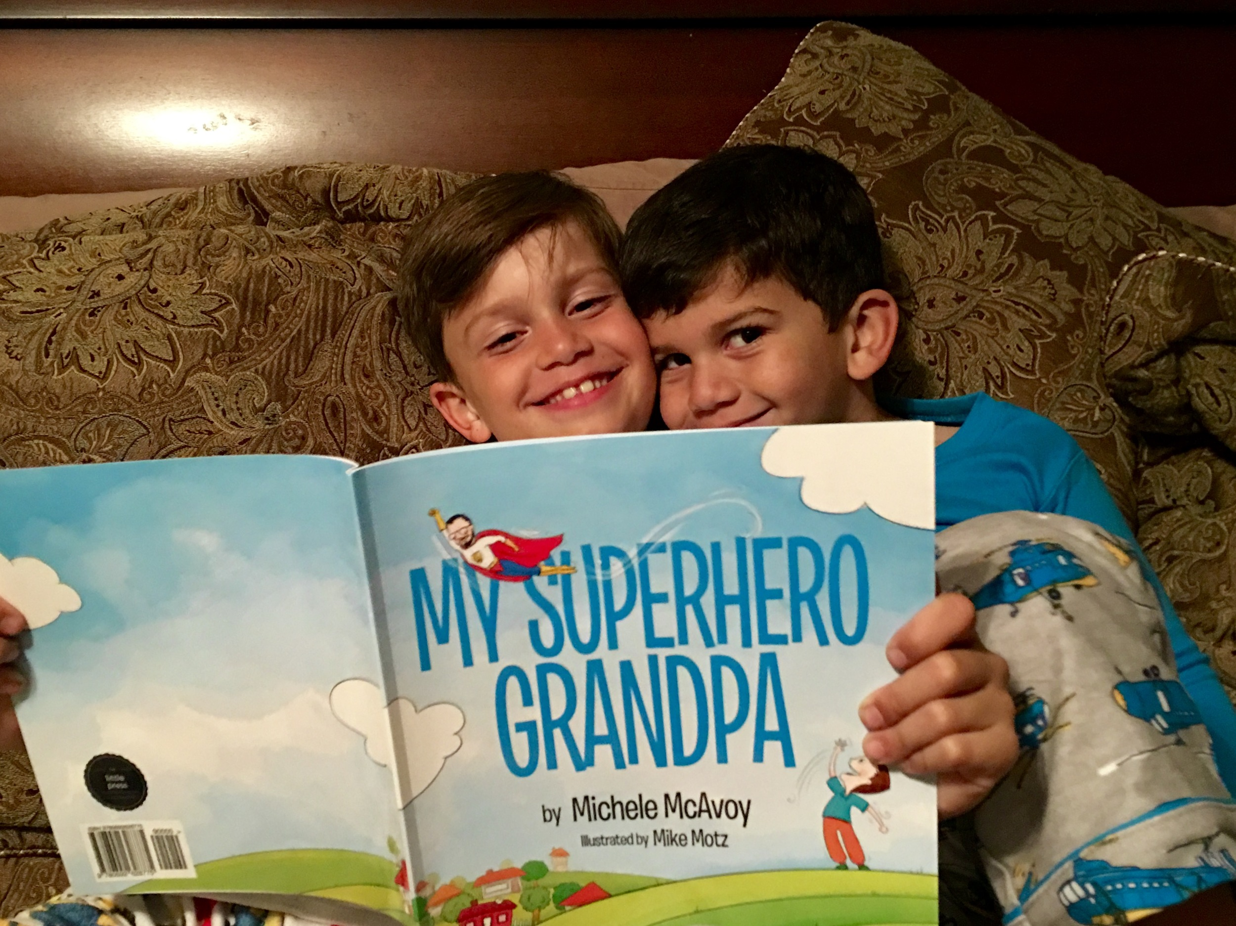 Dominick and Christopher's grandpa became a superhero in 2010