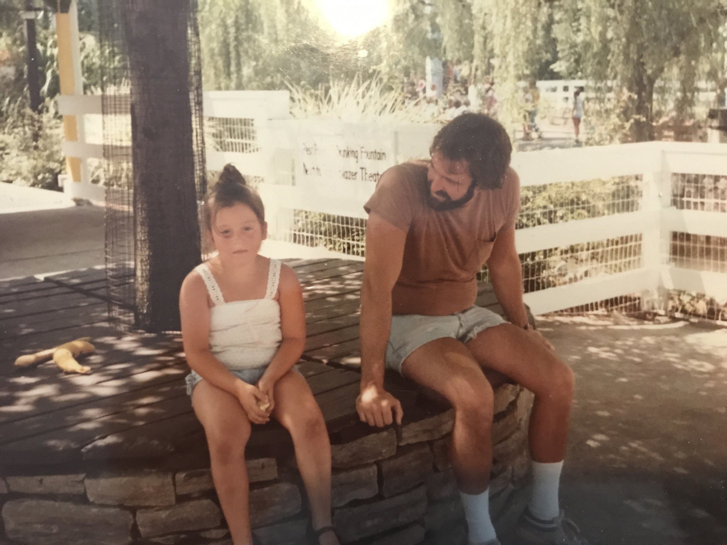 Like this picture from circa 8 years old, my dad will always be beside me when my knees are dirty and I'm exhausted by life.