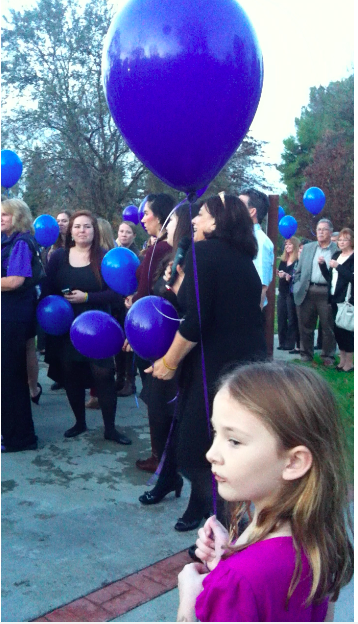 Joanna's daughter attending the funeral for her young friend, Marissa.
