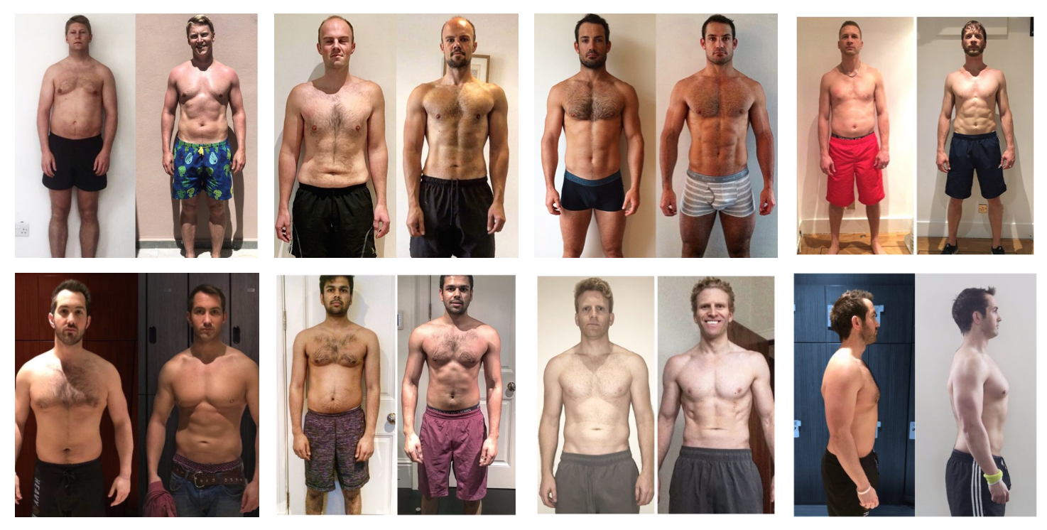 Many of these transformations (1,3,4,6,7) were done in 12 weeks. However the change in #gainz is equally due to the dropping of body fat giving the appearance of more muscle gain. Larger amounts of muscle gain take time!