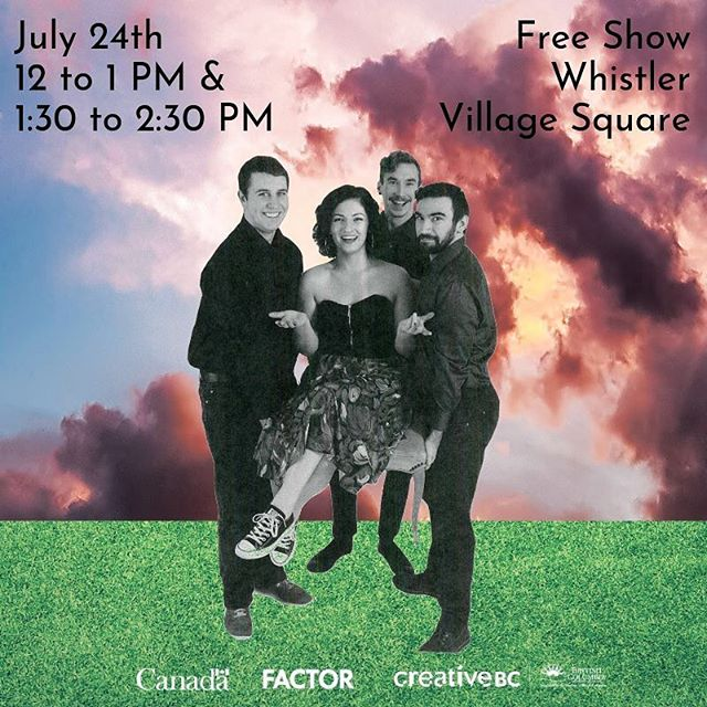 WHISTLER! Come to the Village Square tomorrow between 12 and 2:30 PM. We'll play our hearts out for you!💚💛🧡