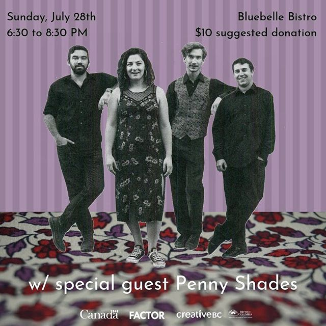 💜KASLO💜 we're playing tonight at the @bluebelle_bistro with @pennyshades !!! Come hear our new songs before we head to the studio to record. It's our last show with @trevorunruh