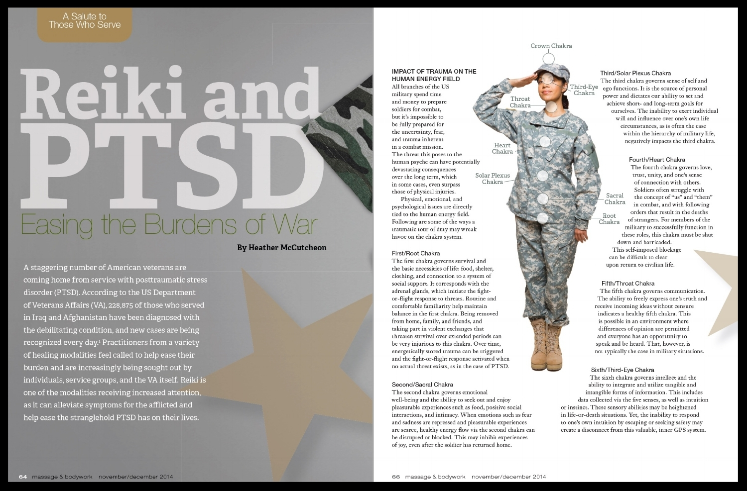 REiki and PTSD: easing the burdens of war
