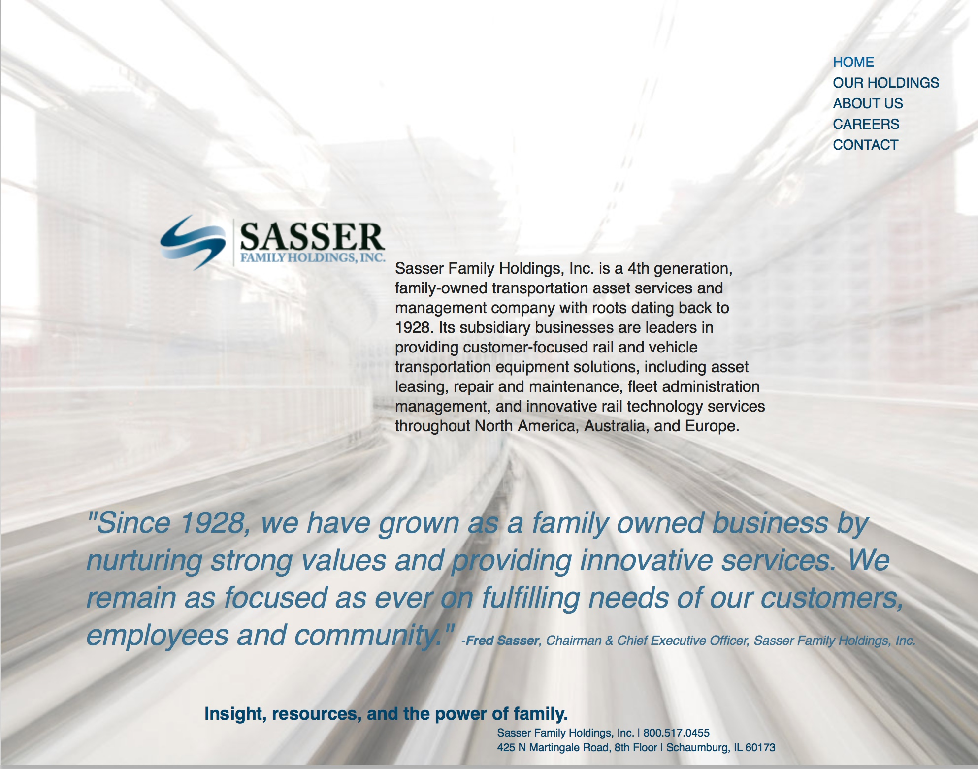 Sasser Family HOldings, Inc.: a global transportation corporation