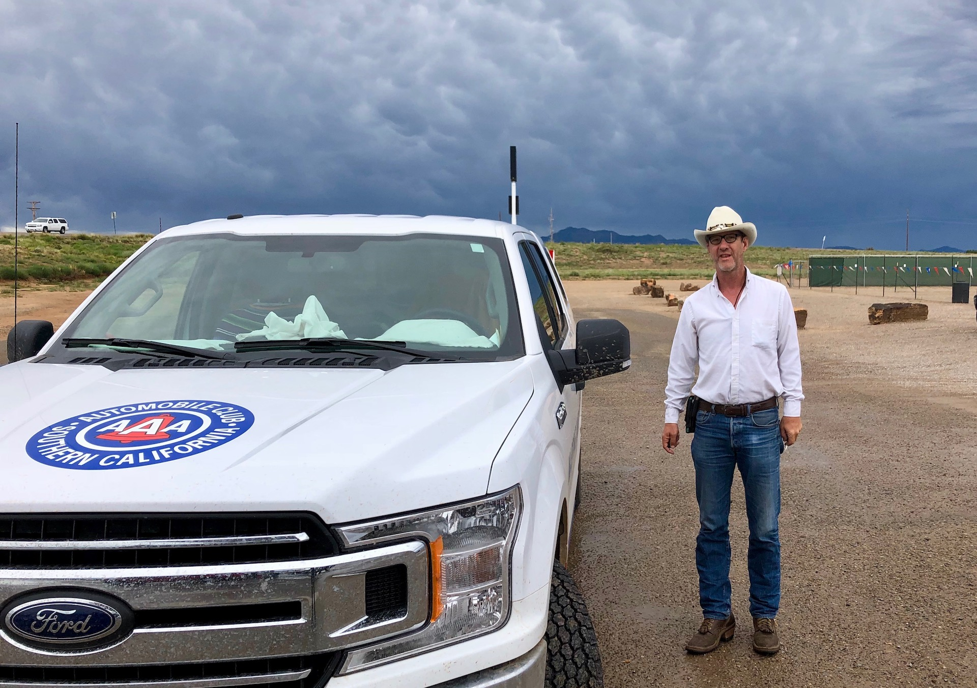 AAA field cartographer Shane Henry in New Mexico. (Photo: Jim Benning)