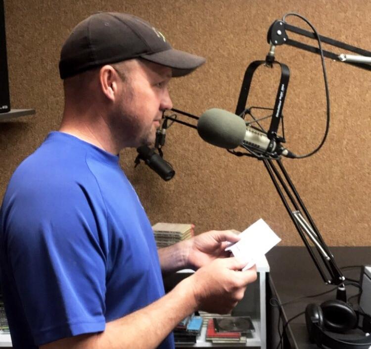 DAVE RECORDING OUR RADIO AD