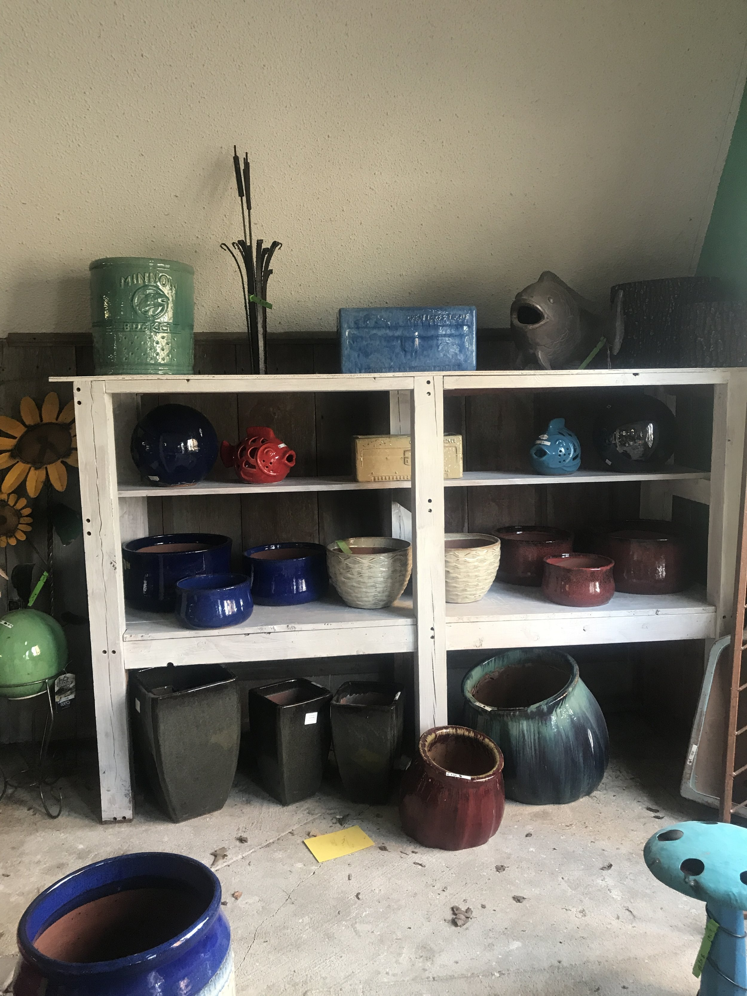 A sneak peak at a few of the new pottery pieces