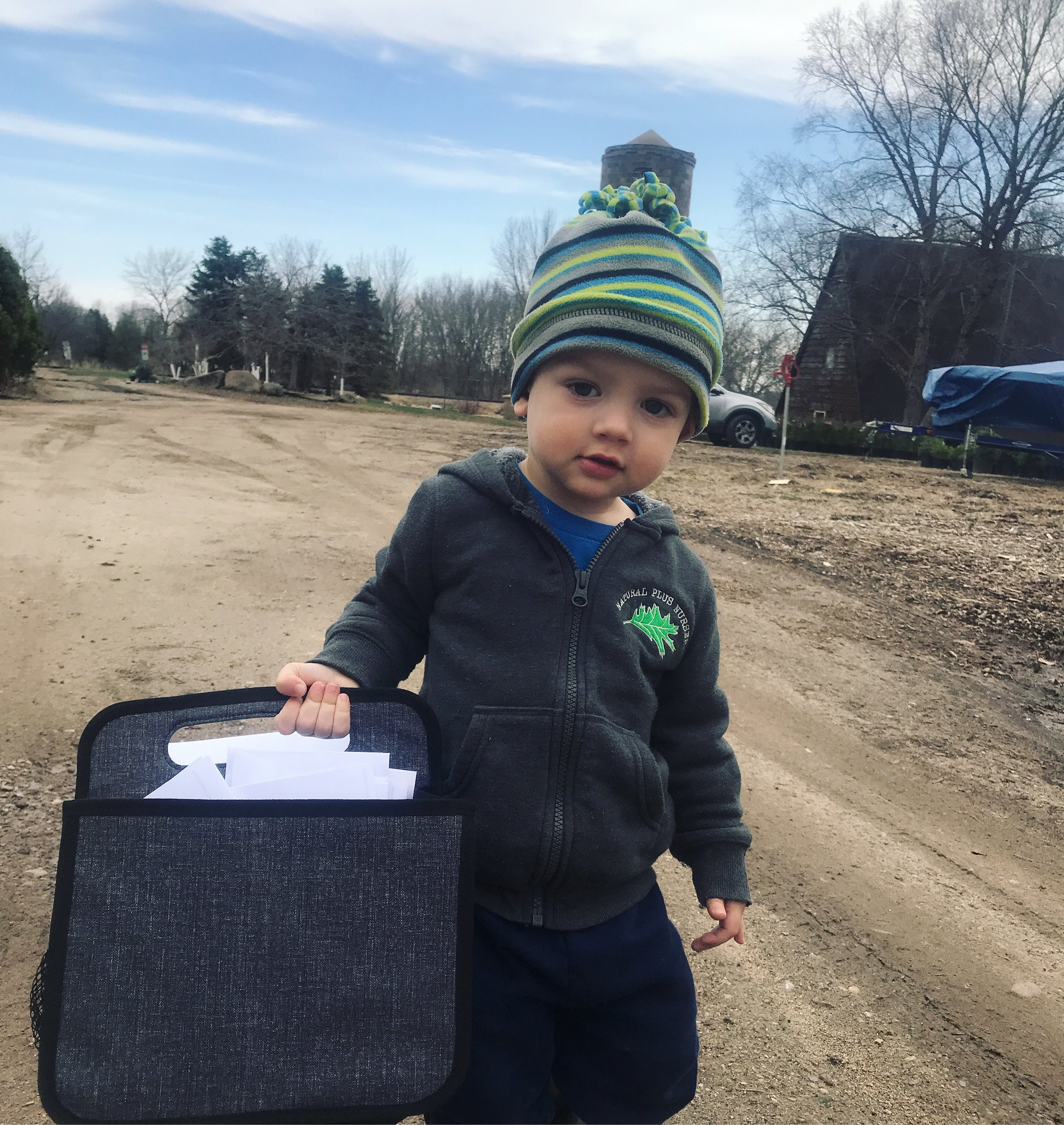 We hired a new mail boy!