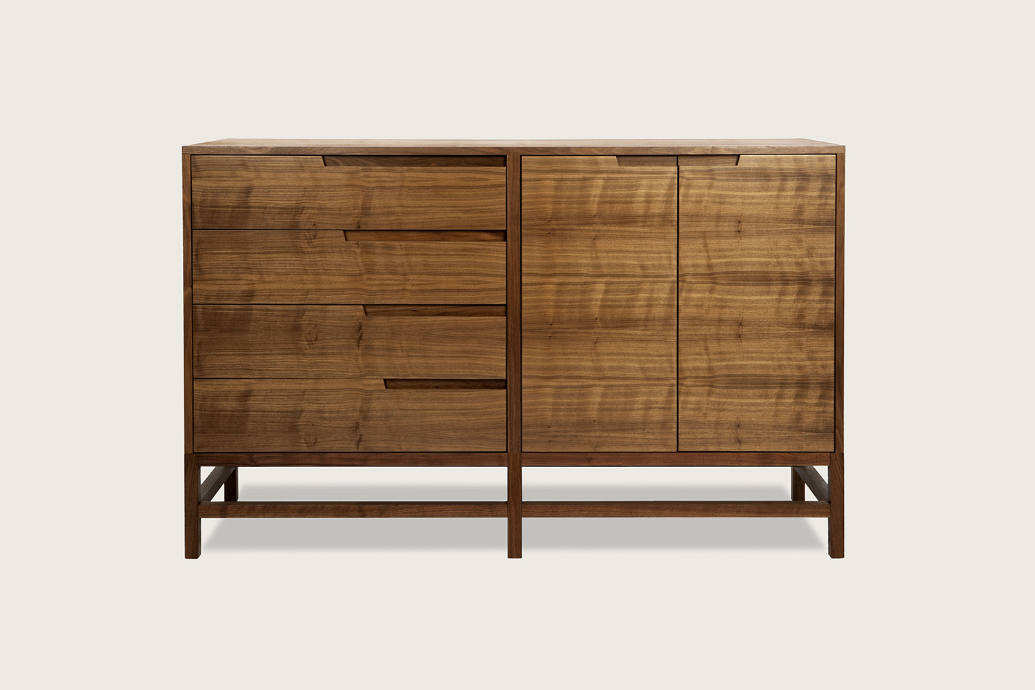 Linea 4-Drawer/2-Door Sideboard in walnut - Speke Klein