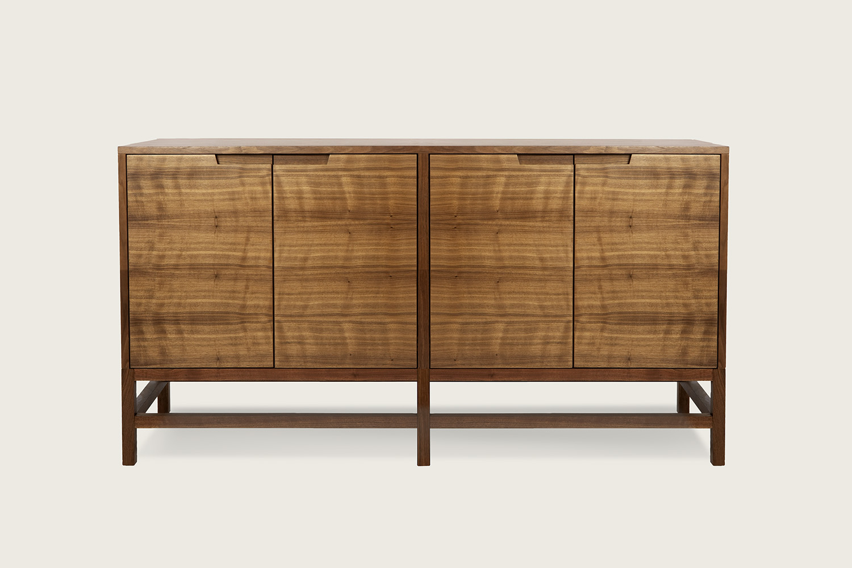 Linea 4-Door Cabinet in walnut - Speke Klein
