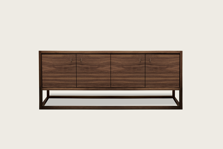 Petits Fours 4-Door Cabinet in walnut - Speke Klein