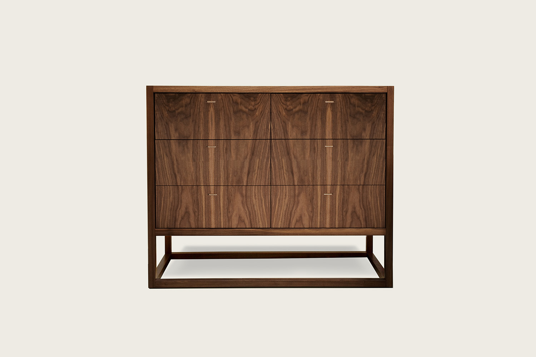 Petits Fours 6-Drawer Dresser in walnut - Speke Klein