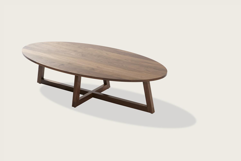 Finn Oval Coffee Table in solid walnut - Speke Klein
