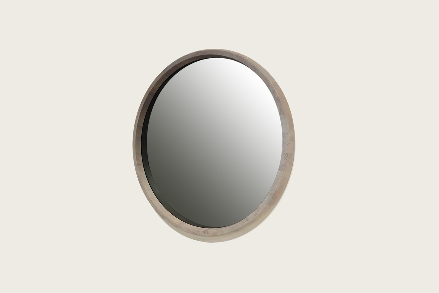 Rise Mirror in Ghost Oak with smoke grey mirror - Speke Klein
