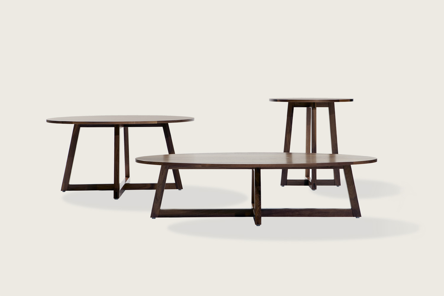 Finn Coffee & Side Tables in solid walnut - Speke Klein