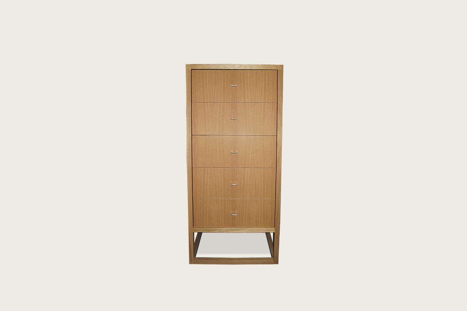 Petits Fours 5-Drawer Tallboy in oak - Speke Klein