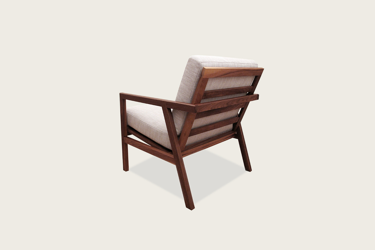 Adam Lounge Chair in walnut with wool upholstery - Speke Klein